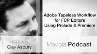 Adobe Tapeless Workflow for FCP Editors Using Prelude & Premiere: Clay Asbury Q&A